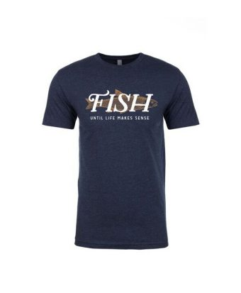 ULMS Men's FISH Trout (midnight blue   white text)