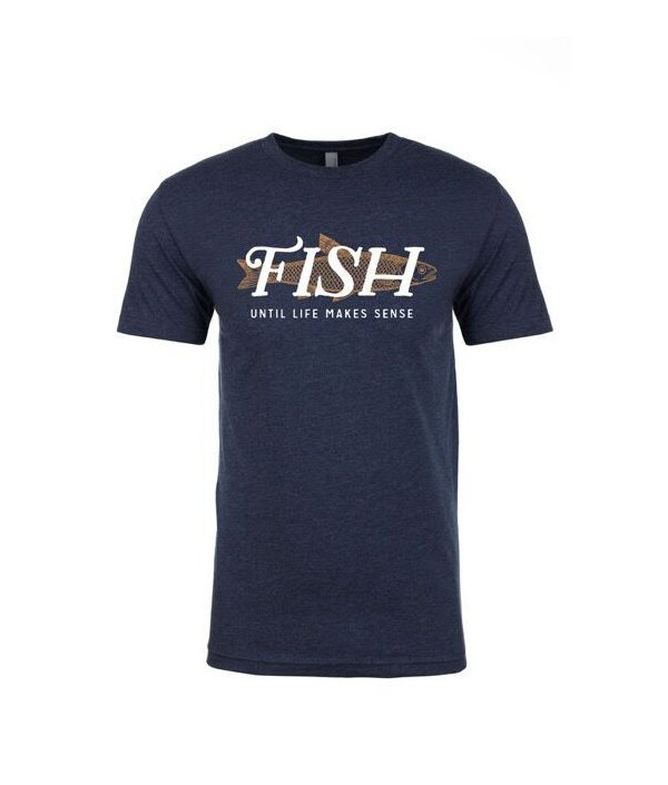 ULMS Men's FISH Trout (midnight blue | white text)